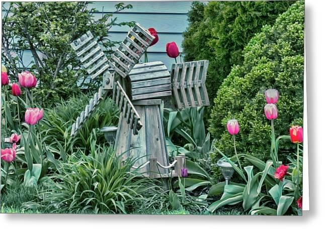 Garden Windmill Greeting Card
