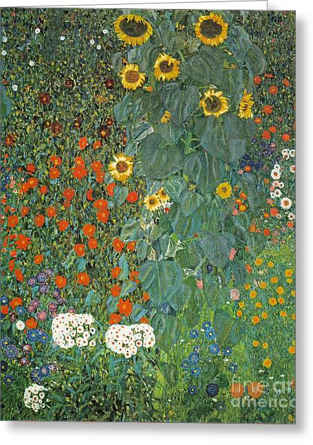 Garden With Sunflowers 1907 Greeting Card