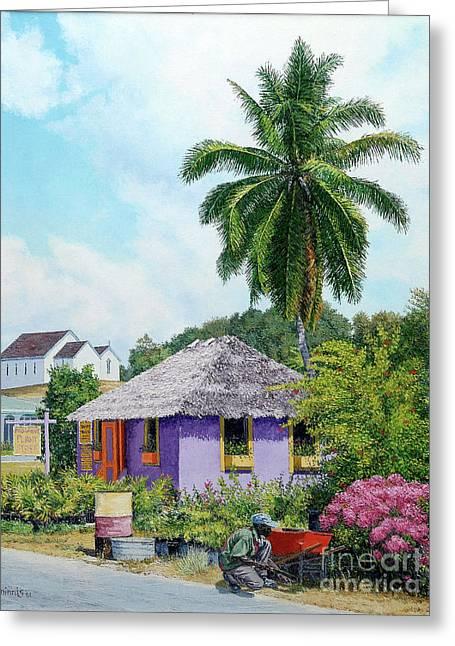 Gardener Hut Greeting Card
