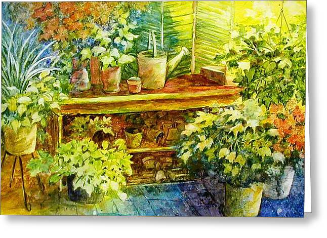 Gardener's Joy Greeting Card by Lois Mountz