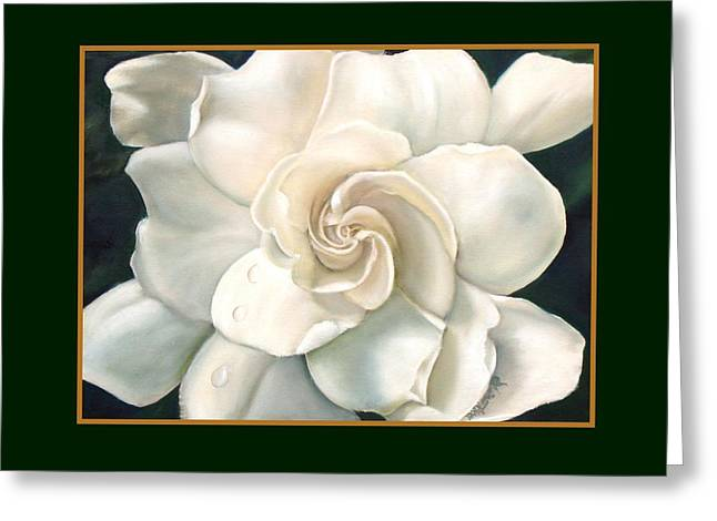 Gardenia Greeting Card by Darlene Green