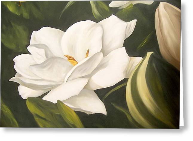 Gardenia Greeting Card by Natalia Tejera