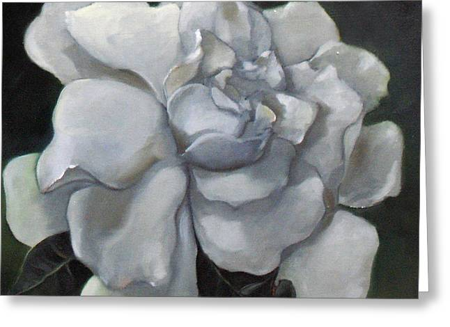 Gardenia Two Greeting Card by Bertica Garcia-Dubus