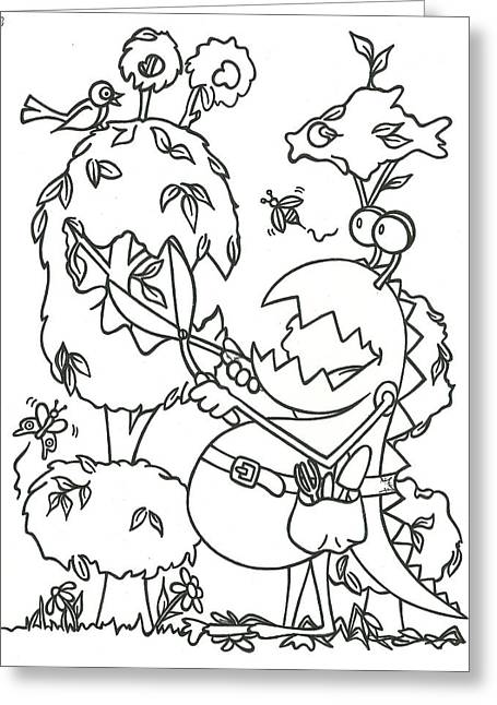 Gardening Monster Greeting Card