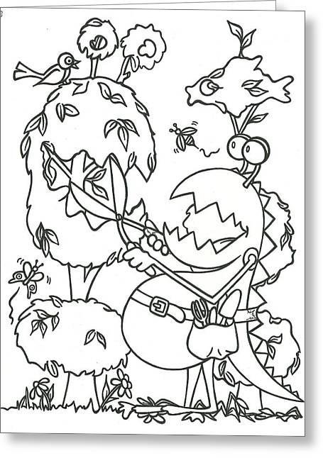 Gardening Monster Greeting Card