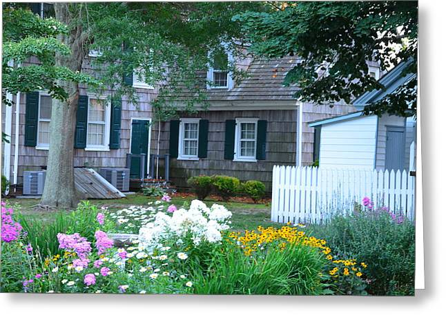 Gardens At The Burton-ingram House - Lewes Delaware Greeting Card