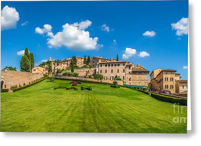 Gardens Of Assisi Greeting Card by JR Photography