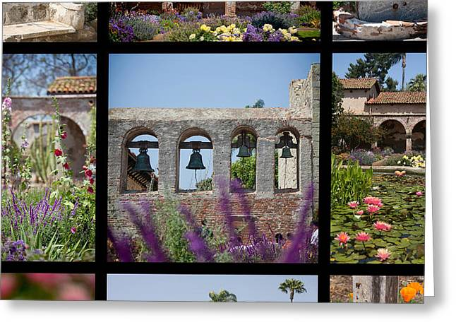 Gardens Of Mission San Juan Capistrano Greeting Card by Art Block Collections
