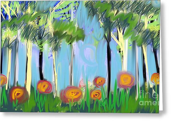 Gardenscape 1 Greeting Card by Elaine Lanoue