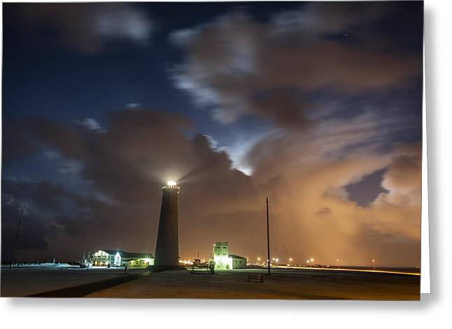 Gardskagaviti Lighthouse, Reykjanes Greeting Card by Panoramic Images
