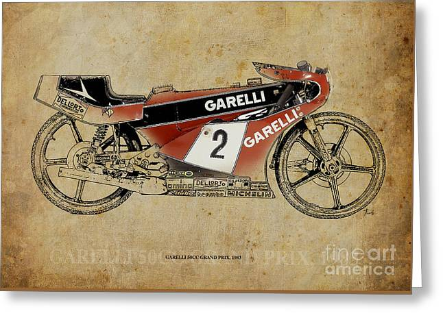 Garelli 50cc Grand Prix 1983 Greeting Card