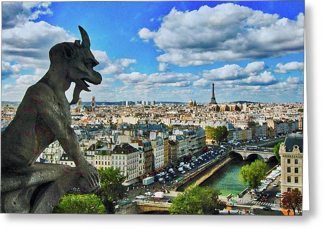 Gargoyle With A View Greeting Card