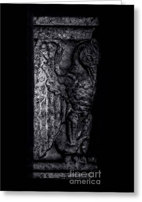 Gargoyle Profile - Right Greeting Card by James Aiken