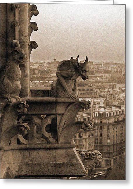 Gargoyles Of Notre Dame Greeting Card