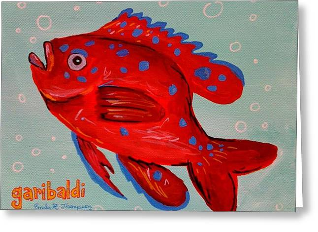 Garibaldi Greeting Card by Emily Reynolds Thompson