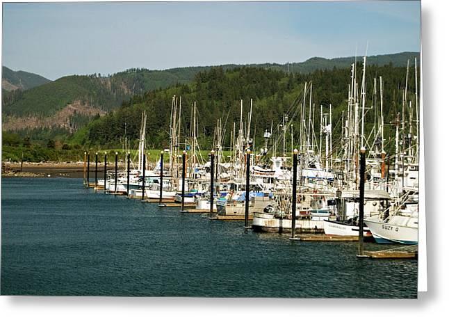 Garibaldi Oregon Marina Greeting Card