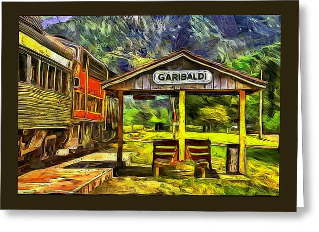 Garibaldi Oregon Train Depot Greeting Card by Thom Zehrfeld