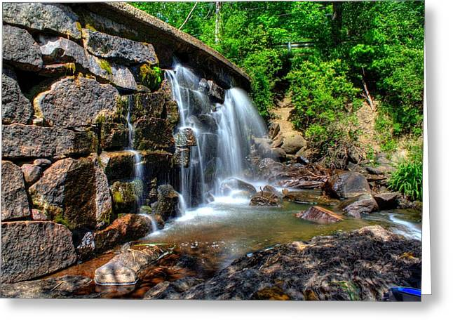 Greeting Card featuring the photograph Garland Falls I by Greg DeBeck