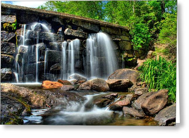Greeting Card featuring the photograph Garland Falls II by Greg DeBeck