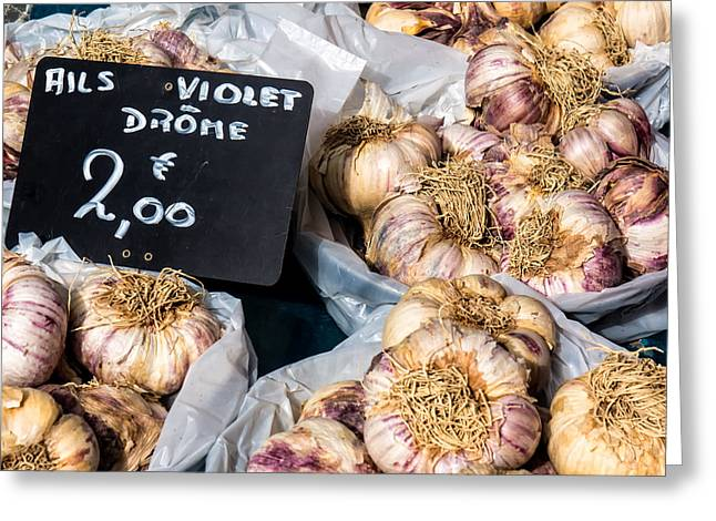 Garlic Two Euros Greeting Card