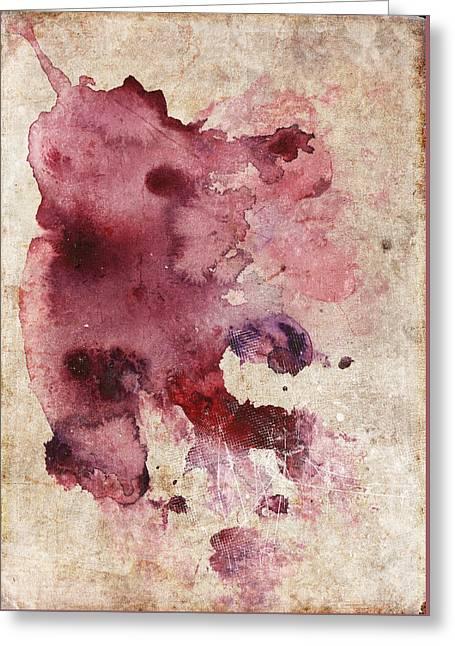 Garnet Color Splash Greeting Card