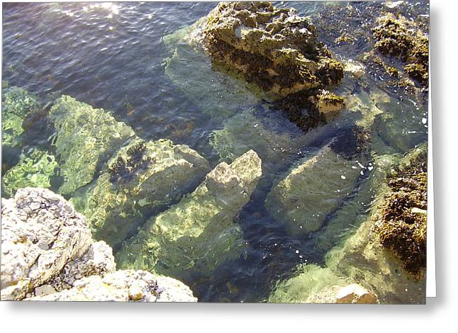 Garron Point Rock Pool Greeting Card