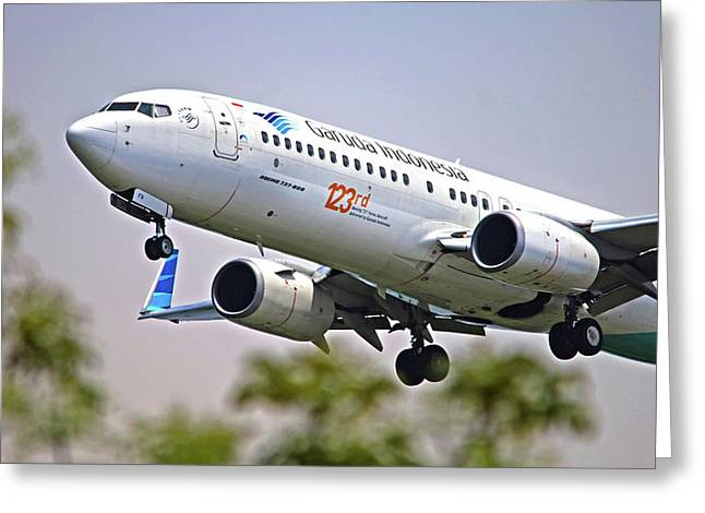 Garuda Indonesia Airlines Greeting Card