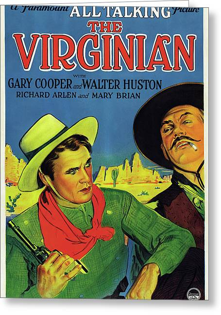 Gary Cooper In The Virginian 1929 Greeting Card