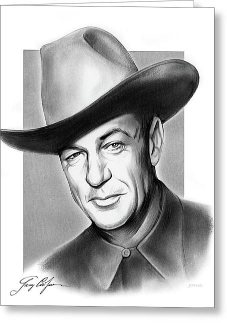 Gary Cooper Signature Greeting Card