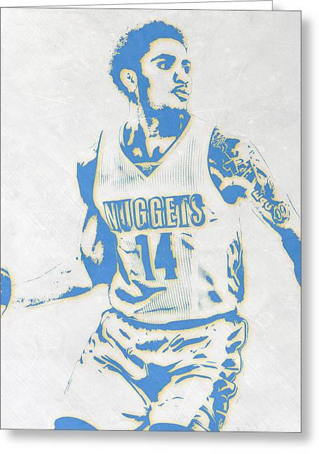 Gary Harris Denver Nuggets Pixel Art Greeting Card