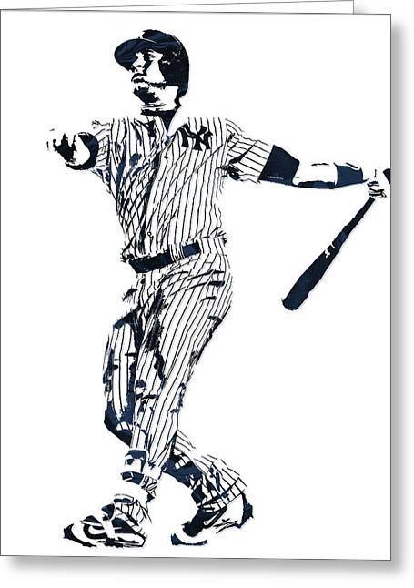 Gary Sanchez New York Yankees Pixel Art 1 Greeting Card