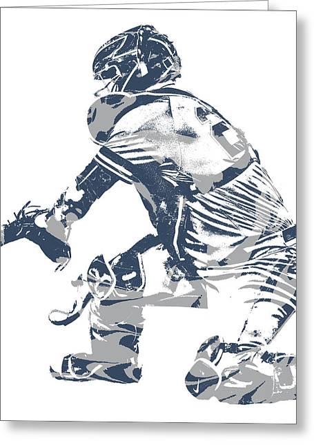 Gary Sanchez New York Yankees Pixel Art 10 Greeting Card