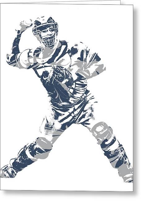 Gary Sanchez New York Yankees Pixel Art 11 Greeting Card