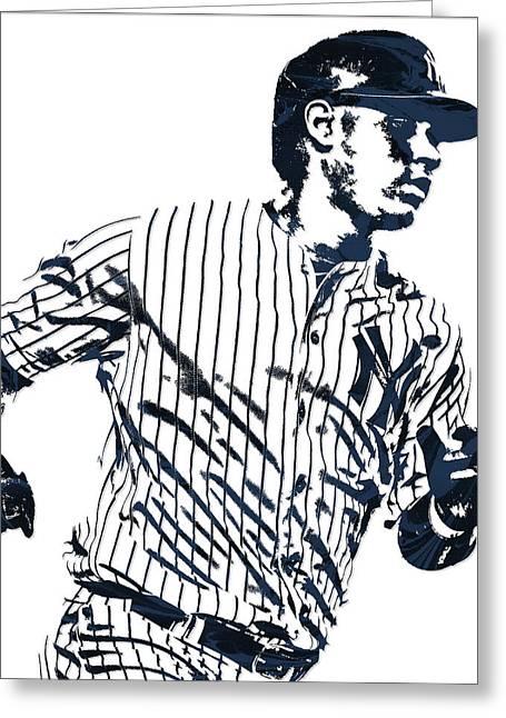 Gary Sanchez New York Yankees Pixel Art 2 Greeting Card