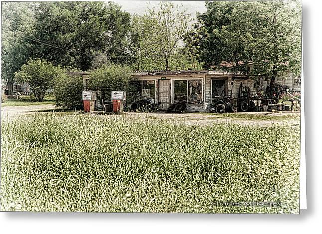 Greeting Card featuring the photograph Gas 25 Cents by Charles McKelroy