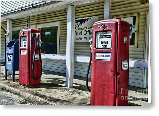 Gas And Mail 1 Greeting Card by Paul Ward