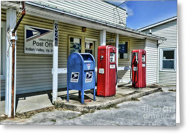 Gas And Mail Greeting Card by Paul Ward