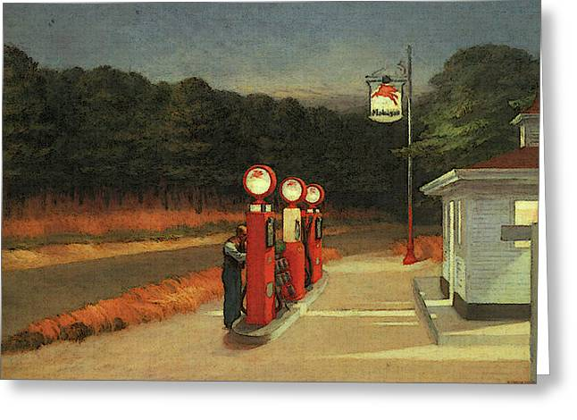 Gas  Greeting Card by Edward Hopper