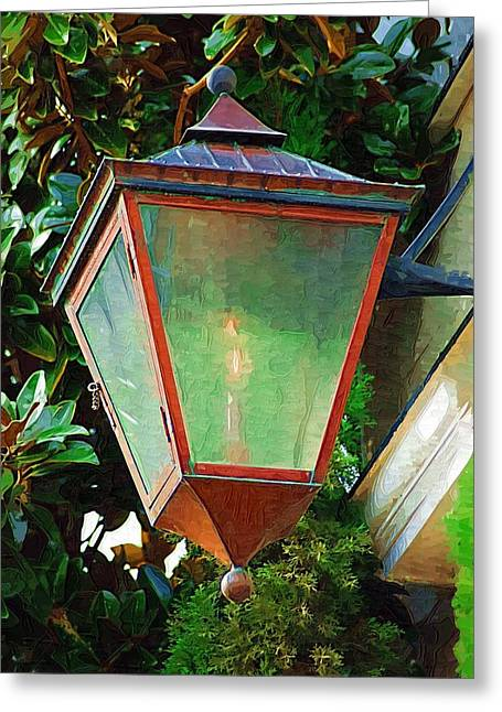 Gas Lantern Greeting Card