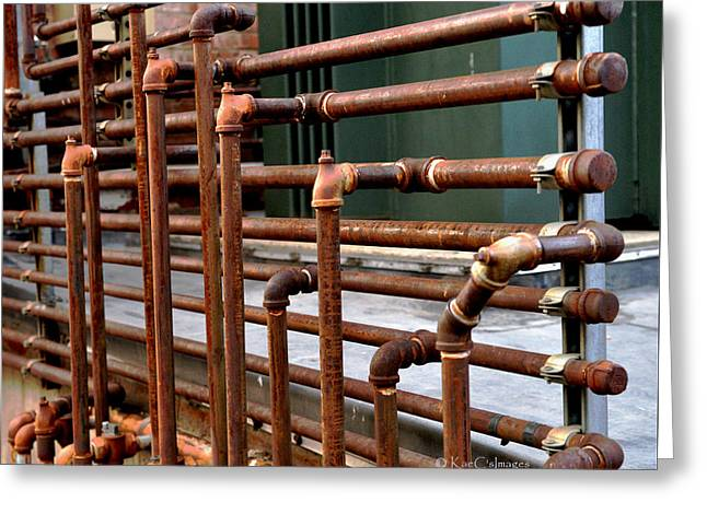 Gas Pipes And Fittings Greeting Card