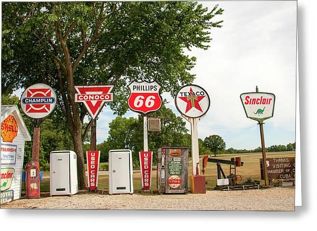 Gas Signage Greeting Card