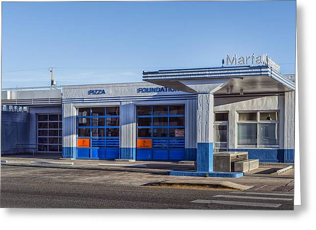 Gas Station - Now Art Gallery Greeting Card by Mountain Dreams