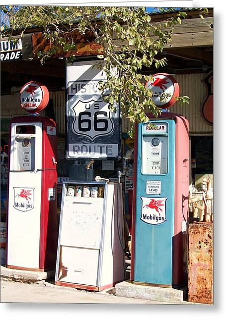 Gas Station On Route 66 Greeting Card