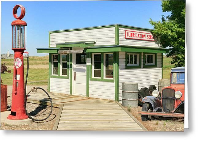 Gas Station Greeting Card by Steve McKinzie
