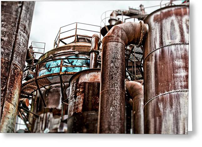 Gas Works Park Greeting Card by Matthew Ahola