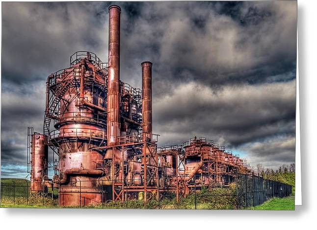 Gas Works Park - Seattle Greeting Card by Greg Sigrist