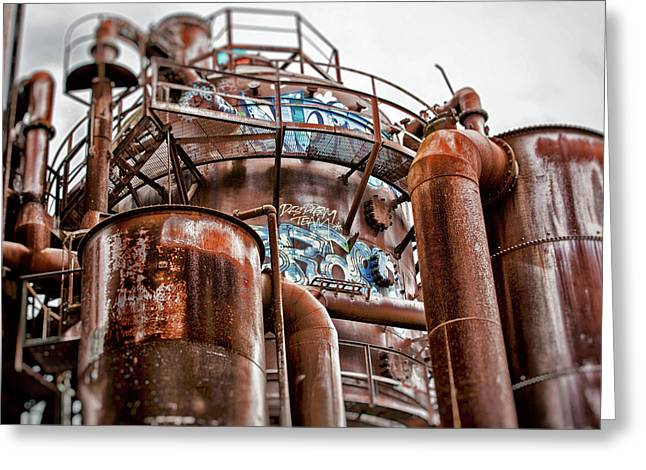 Gas Works Park Two Greeting Card by Matthew Ahola