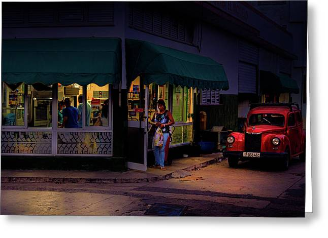 Greeting Card featuring the photograph Gasolinera Linea Y Calle E Havana Cuba by Charles Harden