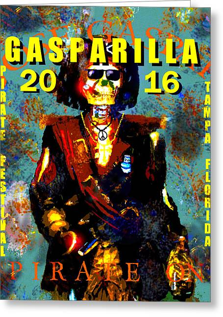 Gasparilla 2016 Jose Gaspar Pirate On Work A Greeting Card