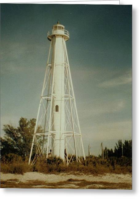 Gasparilla Fl Lighthouse Greeting Card by Lois Lepisto